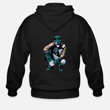 Rapper dog rapper - Men's Zip Hoodie