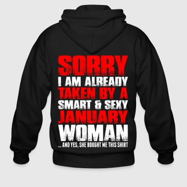 Smart And Sexy January Woman - Men's Zip Hoodie