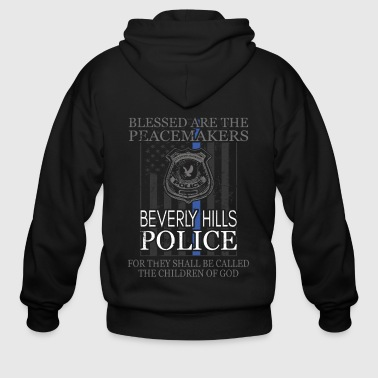 Beverly Hills Police Support Saint Michael Police Officer Pray - Men's Zip Hoodie