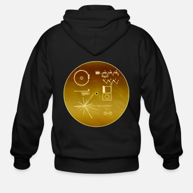 Record Golden record voyager NASA official images space - Men's Zip Hoodie
