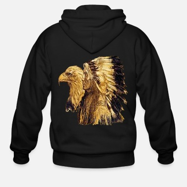 American Indian Indianer / Adler - Men's Zip Hoodie