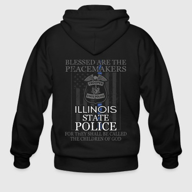 Trooper Illinois State Police Support Illinois State Trooper - Men's Zip Hoodie