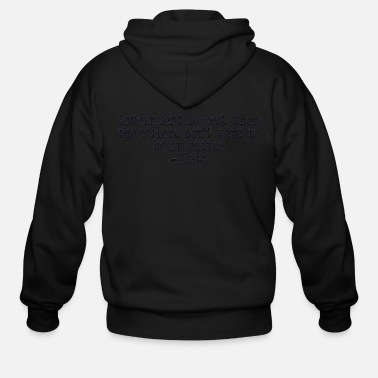 Government Plato on Government - Men's Zip Hoodie