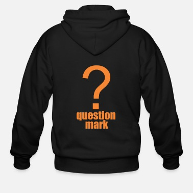 Mark Something question mark - Men's Zip Hoodie