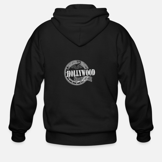 Hollywood Hoodies & Sweatshirts - Stamp Hollywood - Men's Zip Hoodie black