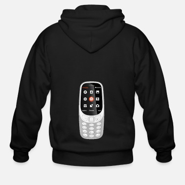 Mobile Phone Mobile Phone - Men's Zip Hoodie