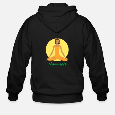Chant yoga namaste chanting - Men's Zip Hoodie
