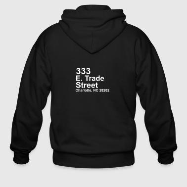 Address CHARLOTTE BASKETBALL ADDRESS - Men's Zip Hoodie