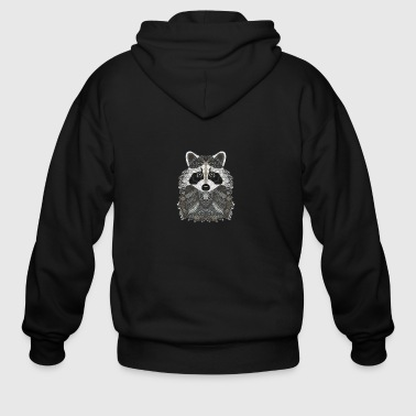 Ornate Raccoon - Men's Zip Hoodie