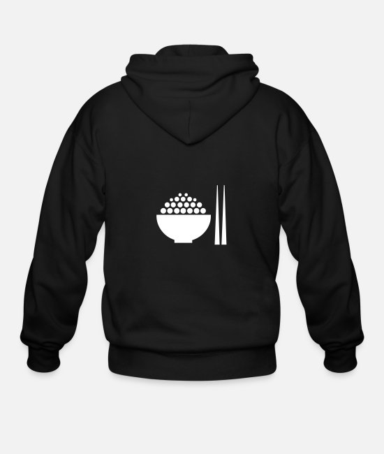 Serving Hoodies & Sweatshirts - Restaurant Meal - Men's Zip Hoodie black
