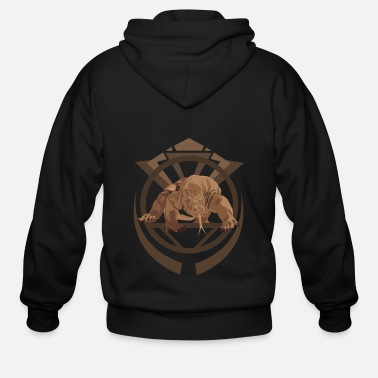 Monitoring Komodo Monitor - Men's Zip Hoodie