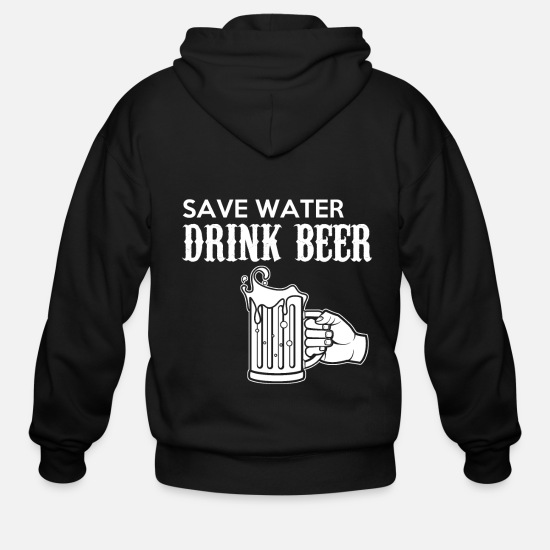 Birthday Hoodies & Sweatshirts - Beer - Men's Zip Hoodie black