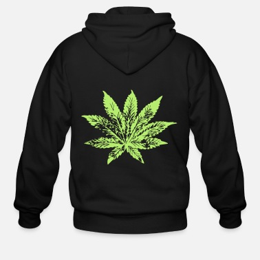 Hemp hemp leaf - Men's Zip Hoodie
