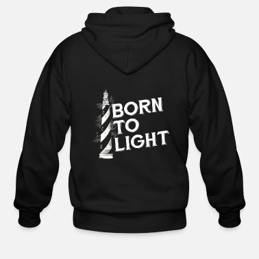 North Sea Lighthouse Coast North Sea Holiday Gift - Men's Zip Hoodie