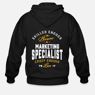 Occupation Gift for Marketing Specialist - Men's Zip Hoodie