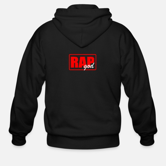 Rap Hoodies & Sweatshirts - RAP GOD - Men's Zip Hoodie black