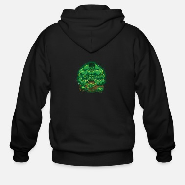 Hulk Hulk and Yoda Long Sleeve - Men's Zip Hoodie