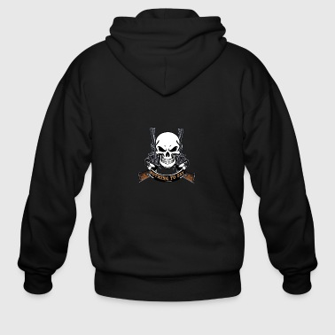 nothing to say A awesome tshirt for hunter&shooter - Men's Zip Hoodie