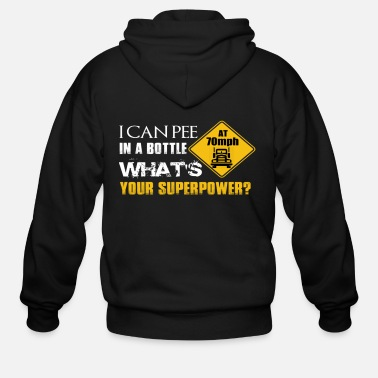 Serce I CAN PEE IN THE BOTTLE - Men's Zip Hoodie