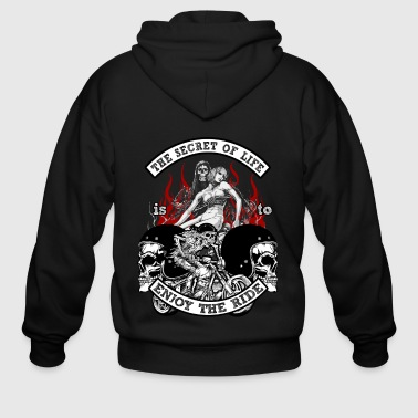 Chopper Bikers Bike Life Riders Death Motorcycle Gift - Men's Zip Hoodie
