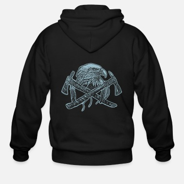 American Indian Indian American Native American Skull Gift - Men's Zip Hoodie