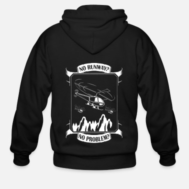 Cloud Helicopter helicopter pilot flight helicopter heli - Men's Zip Hoodie