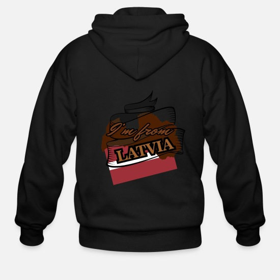 Latvia Hoodies & Sweatshirts - Latvia - Men's Zip Hoodie black