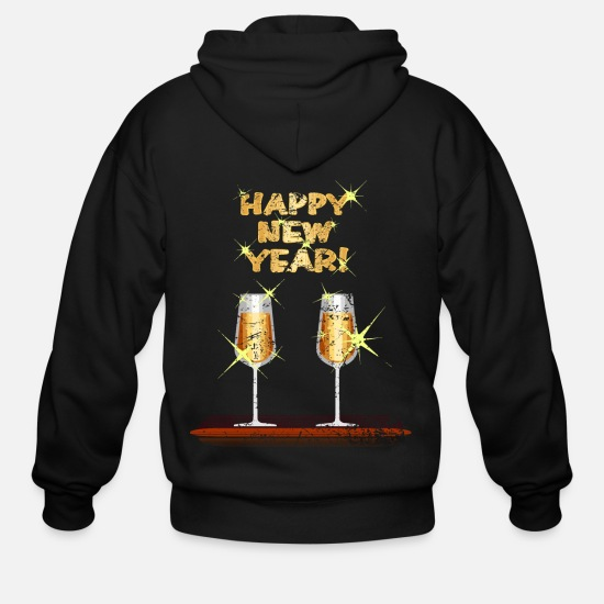 Grungy Hoodies & Sweatshirts - New Year - Men's Zip Hoodie black
