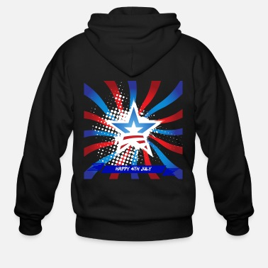 4th Of July Happy 4th July - Men's Zip Hoodie