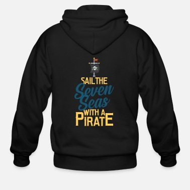 Pirate Flag Pirate, Pirate flag, Pirate ship - Men's Zip Hoodie