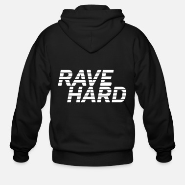 Rave Rave Hard Vector - Men's Zip Hoodie