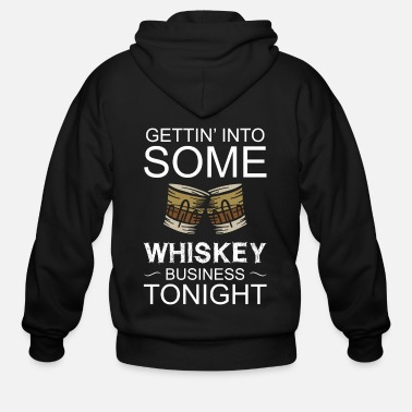 Wine Whiskey St. Patricks Day Irish Alcoholic Alcohol - Men's Zip Hoodie