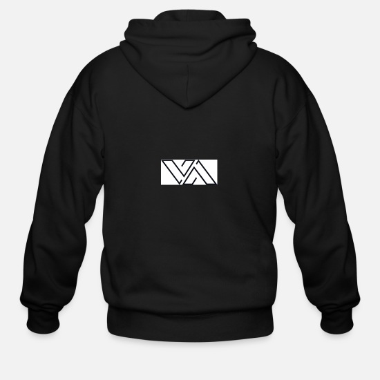 Design Hoodies & Sweatshirts - VA's Iphone Case Design - Men's Zip Hoodie black