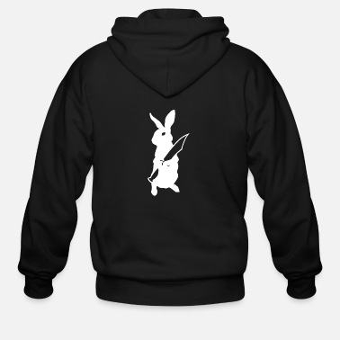 Edgy Revenge of the Rabbits - Men's Zip Hoodie
