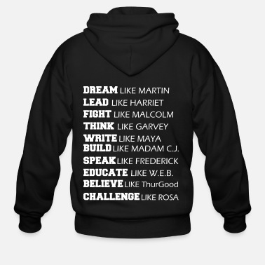 Black Power BLACK POWER BLACK HISTORY MONTH - Men's Zip Hoodie