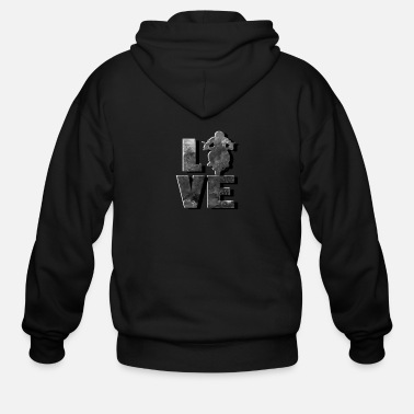 Racing Machine I Love Biker, Motorcycle drive with Racing Machine - Men's Zip Hoodie