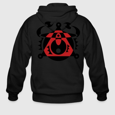 Tattoo Art T-Shirt Design - Men's Zip Hoodie