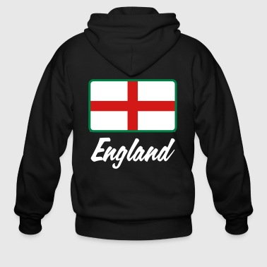 National Flag Of England - Men's Zip Hoodie