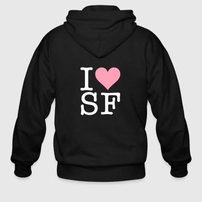 I Love San Francisco! - Men's Zip Hoodie