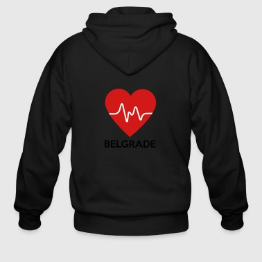 Heart Belgrade - Men's Zip Hoodie