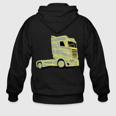 Scania R1000 V8 Super Truck - Men's Zip Hoodie