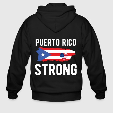Puerto Rico Strong Shirt Support Puerto Rico T-Shi - Men's Zip Hoodie