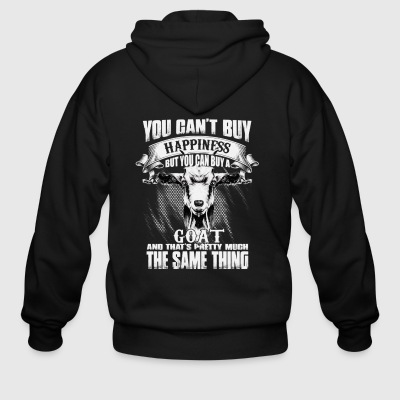 YOU CAN'T BUY HAPPINESS BUT YOU CAN BUY GOAT - Men's Zip Hoodie