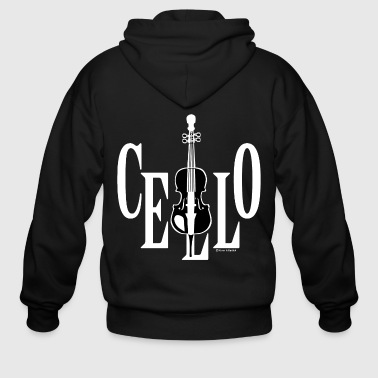 Cello In Cello White - Men's Zip Hoodie