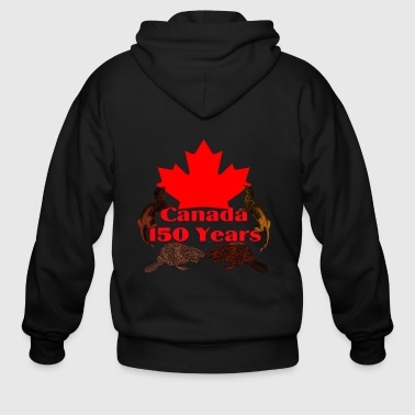Canada 150 otter and beaver - Men's Zip Hoodie