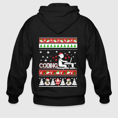 Coding Christmas Shirts - Men's Zip Hoodie