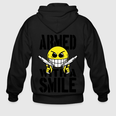 Armed with a smile - Men's Zip Hoodie