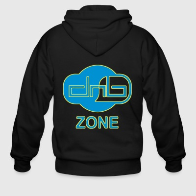 DRUM AND BASS ZONE - Men's Zip Hoodie
