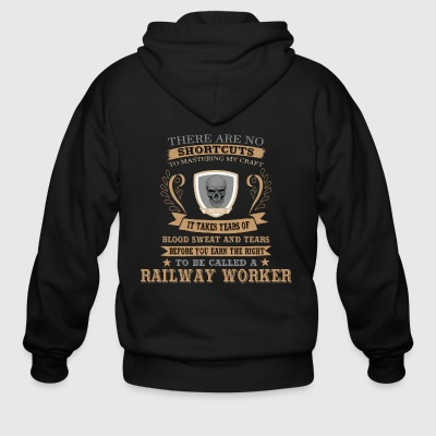 Railway Worker Tshirt Gift for Birthday and XMAS - Men's Zip Hoodie