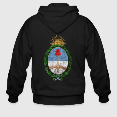 Argentinian Coat of Arms Argentina Symbol - Men's Zip Hoodie